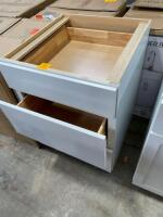 "24 "" grey cabinet with drawers - 2"