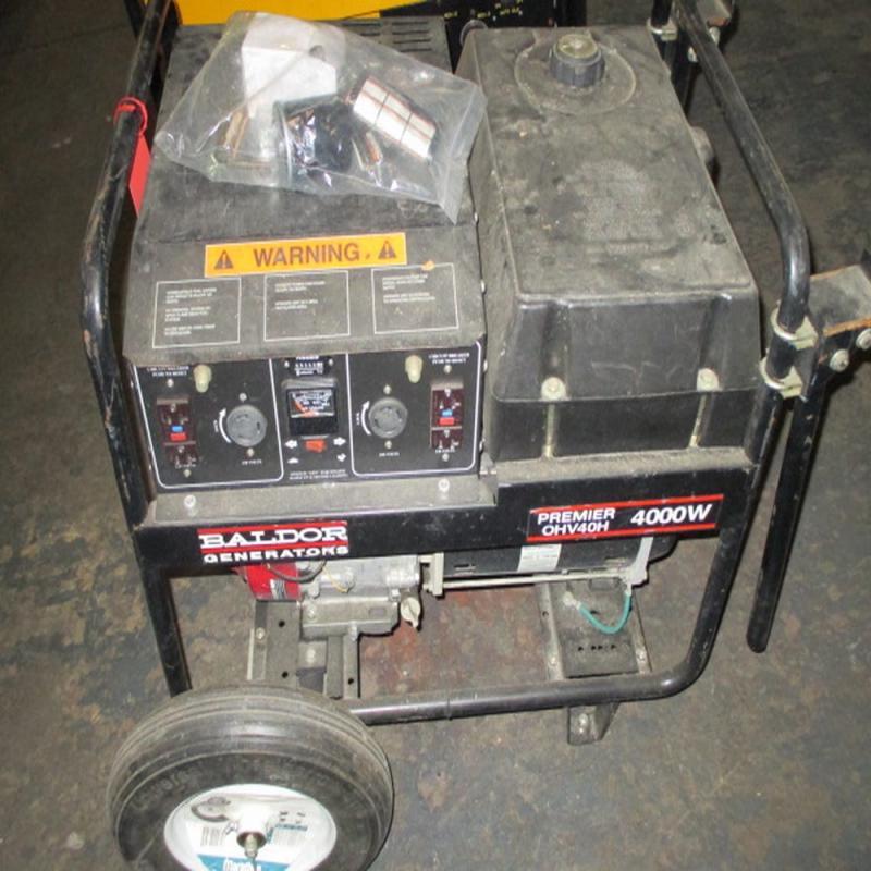 Lot 124 Of 1055: Baldor Premier 4000 Watt Generator W/ Honda GX240 Engine    Model #OHV40H