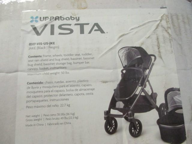 Uppababy Vista stroller combo with baby carrier black