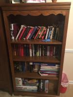 "Larger Wooden Book case unit, 32"" x 13"" x 60 •Contents not included"