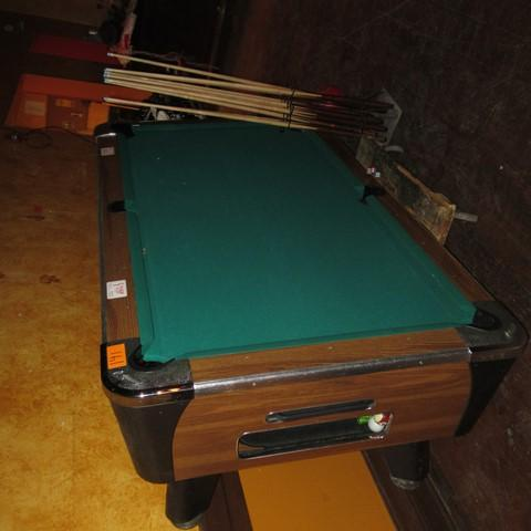 Dynamo Full Size Slate Pool Table Coin Operated Includes Pool - Pool table slate dolly