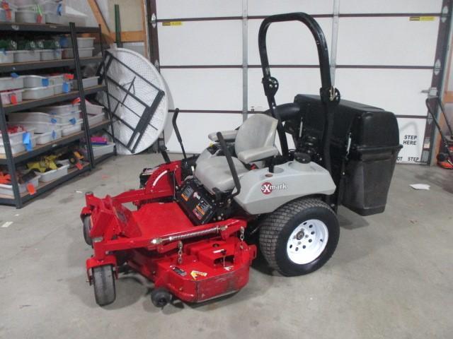 Exmark zero turn mower with ultravac and bagger - 644 hours