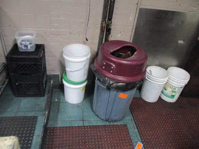 30 gallon trash can with lid live contains magnetic silverware catcher