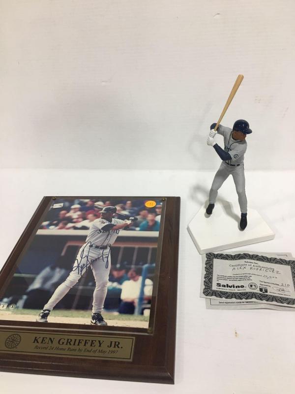 2b8c847330 Lot 29 of 478: Lot of 2: (1) Ken Griffey Jr -signed photograph-no  certificate (1) 7 inch Ken Griffey Junior figurine #210 -certified