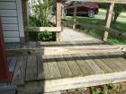 Outdoor Wooden Ramp & Landing (Will need dismantled to be removed)