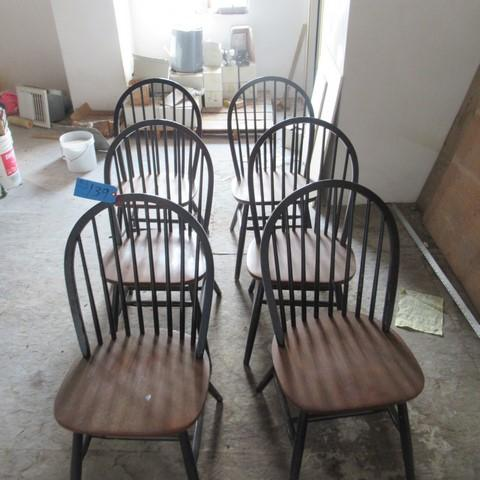 Lot 139 Of 268 Six Vintage Dining Room Chairs Black And Brown Width Chair 17 1 2 Height 35 Inches Depth 3 4