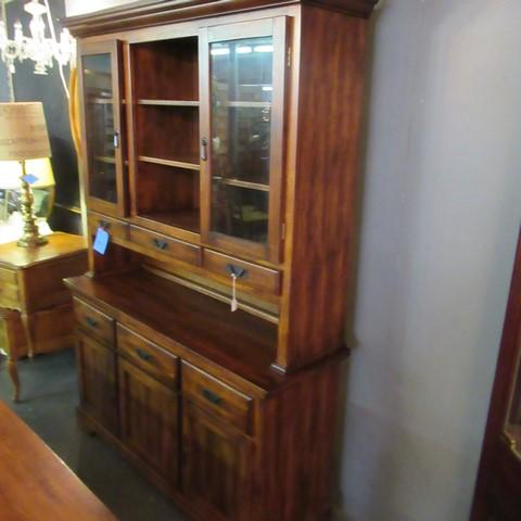 Lot 9 Of 289 Dining Room Hutch With Drawers Commodores Shelves And Glass Doors