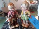 2 - statues - vintage and 9 1/2 in tall
