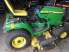 John Deere garden tractor – model X744 ultimate – four wheel steer – extra blades included