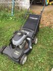 Troy built push lawn mower– 6.25 HP – 21 inch cut – rear bag /mulcher – self-propelled front wheel drive-some damage needs to be repaired