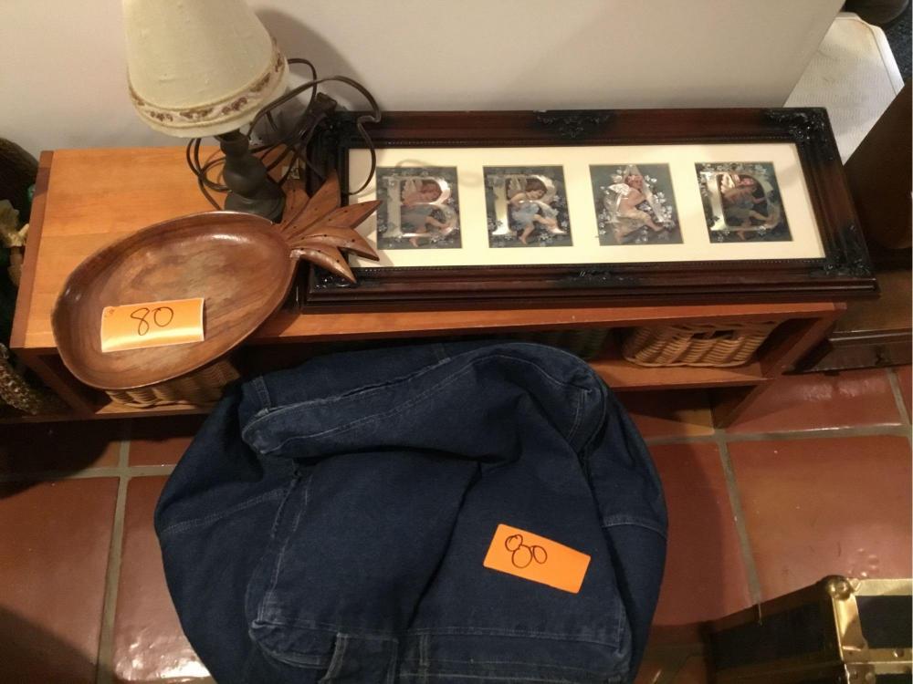 Strange Blue Jean Bean Bag Chair Wood Pineapple Dish Accent Lamp Machost Co Dining Chair Design Ideas Machostcouk