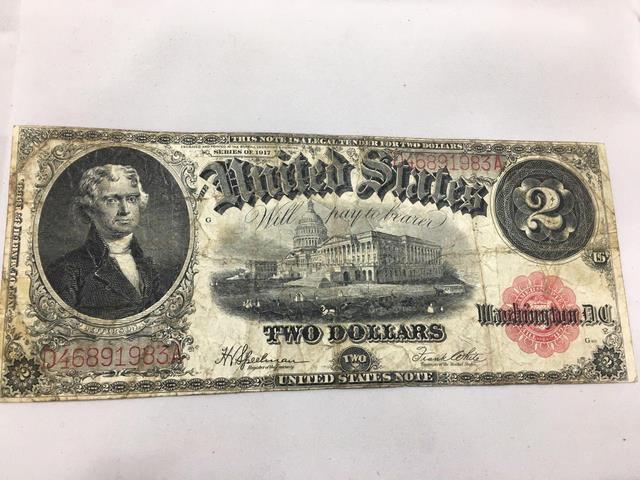 Series 1917 - US Currency - $2 dollar bill - Serial