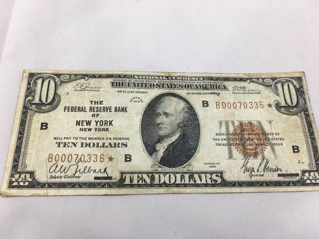 1929 series, US Currency - $10 dollar bill, B00070336 , The