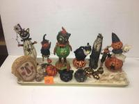 Halloween decorations- variety - pumpkins and cats