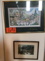 "2 framed pictures 9""x11"", 12""x16"""