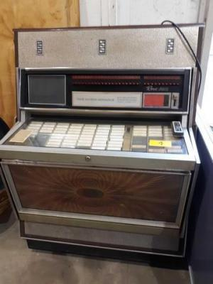 "Rowe ami jukebox the music miracle- worked when placed - 27 "" d x 56"" h x 40"" w"