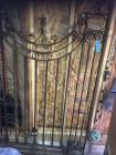 "Wrought iron gate approximately 52""x84""H"
